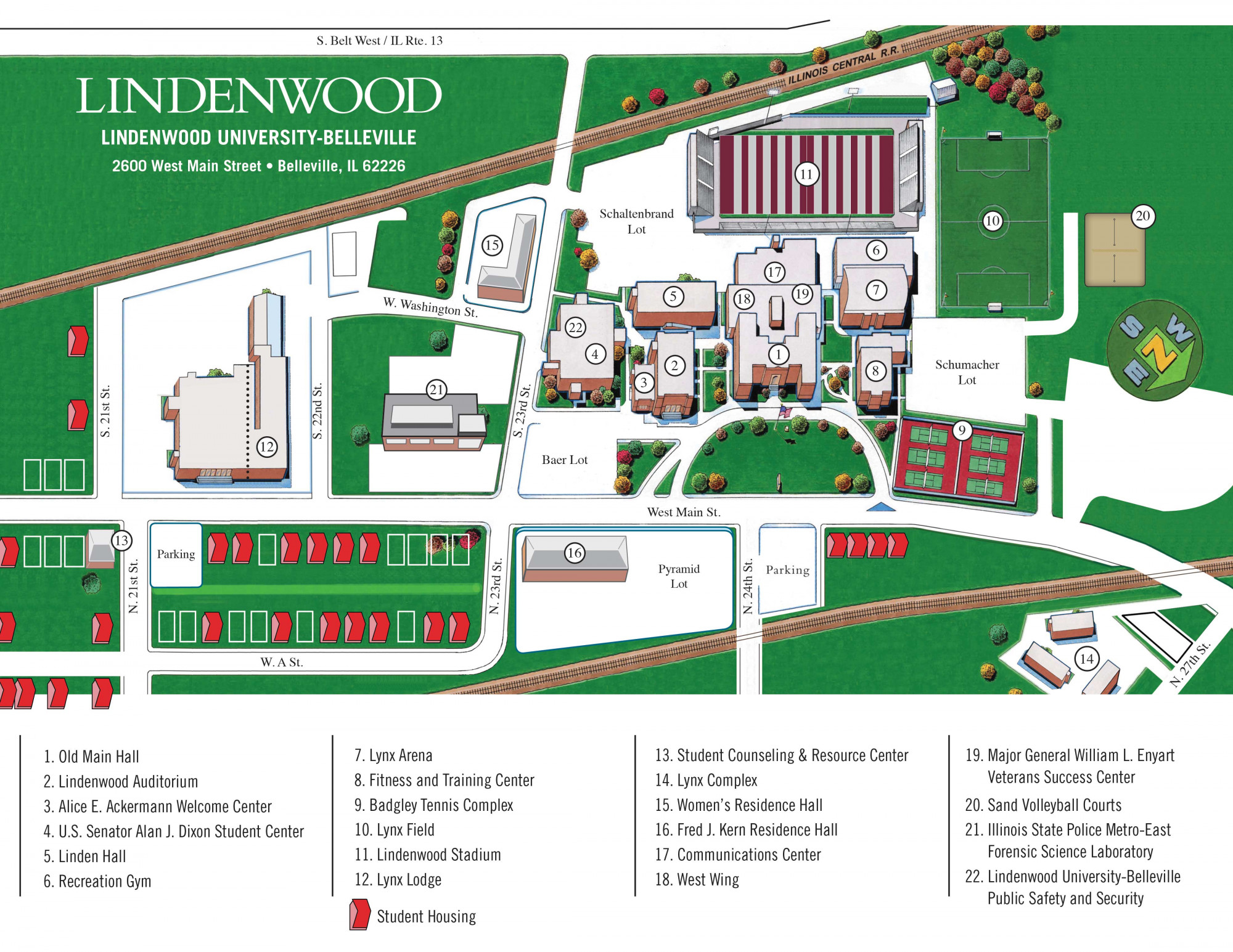 metro state campus map Campus Map For Belleville Lindenwood University Belleville metro state campus map