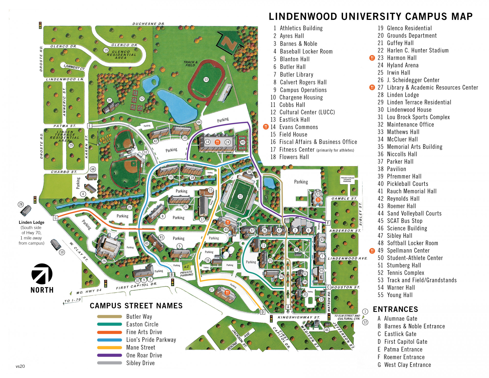 Campus Map For St Charles Lindenwood University
