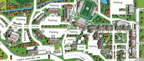 Campus Map for St. Charles | Lindenwood University