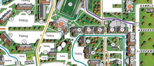 lindenwood university campus map Campus Map For St Charles Lindenwood University lindenwood university campus map