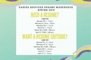 Resume Workshops