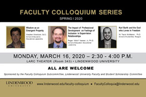 Faculty Colloquium Speaker Series