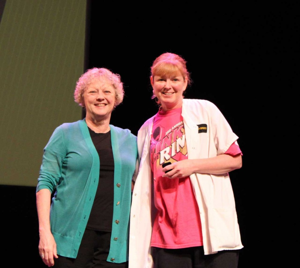 On Wednesday, April 5, 2017, Lindenwood University staff employees gathered  at the J. Scheidegger Center's Lindenwood Theater for an all-staff meeting  ...