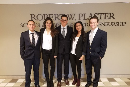 Team Represents Lindenwood at CFA Society Competition