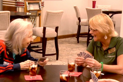 Students Donate Time, Talent to St. Charles Assisted Living Center