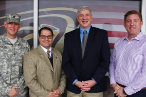 Parisi and Kostich Receive Military Support Award