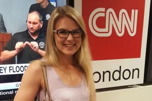 Back from CNN Internship, Senior Embarks on Another Dream