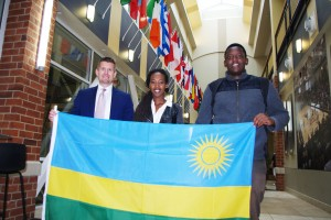 Rwandan Flag Added to International Collection in Evans Commons