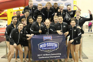 Men's Swimming Wins Third Straight MSC Championship