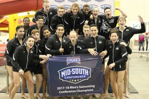 Men's Swimming Wins Third Straight MSC Championship