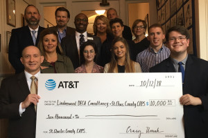 Lindenwood DECA and St. Charles County CAPS Receive $10,000 Grant