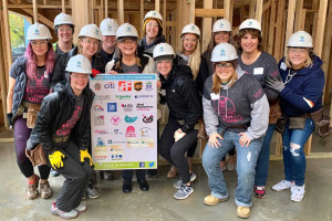 Faculty and Staff Participate in Habitat for Humanity's Women's Build Day