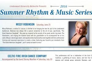 Summer Rhythm and Music Series Announced