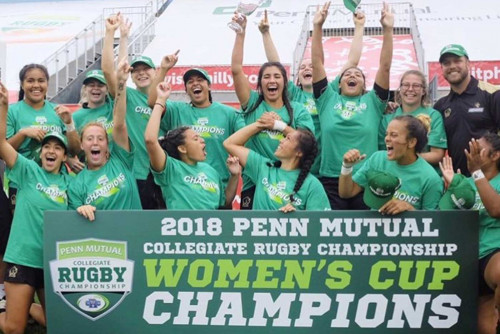 Men's and Women's Rugby Teams Win Collegiate Rugby Sevens Championships