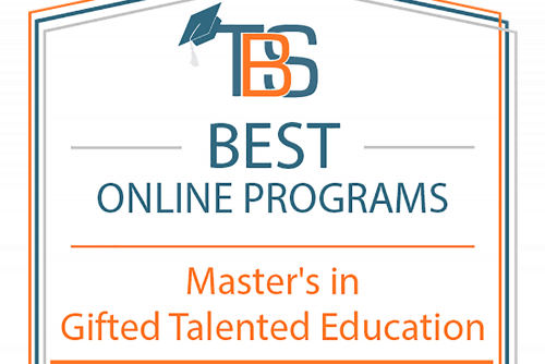 Online Master's in Gifted Education Ranked among Best in Nation