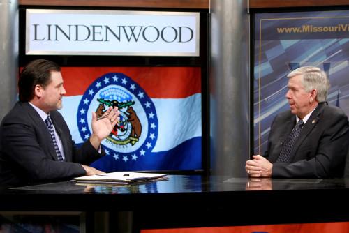 Missouri Governor Visits Lindenwood, Meets Shonrock