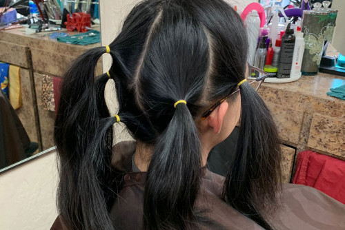 Hays Donates Hair for Children in Need