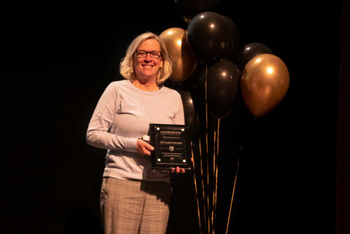 Dr. Cynthia Schroeder Receives President's Distinguished Service Award