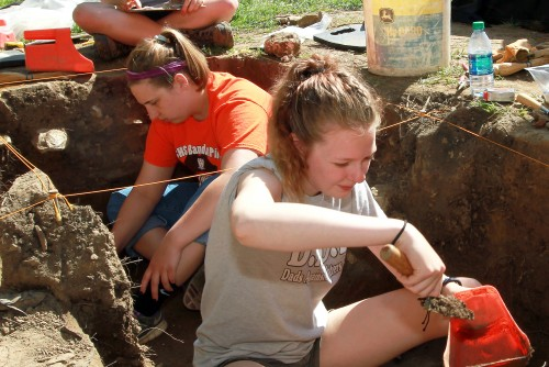 Digging up the Past - Archaeology Students Search for Historic Church Site