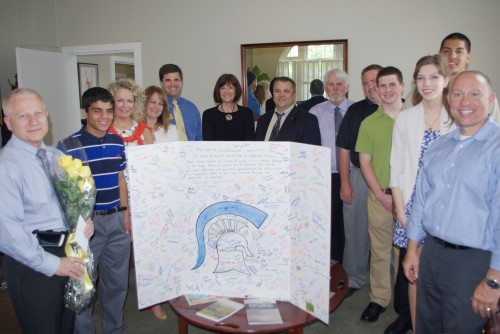 Francis Howell Administrators, Students Deliver 'Thank You' to Lindenwood