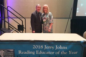 Yearian Honored with Jerry John's Reading Educator of the Year Award