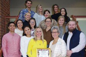 Saint Louis Crisis Nursery Recognizes Lindenwood Advertising Class