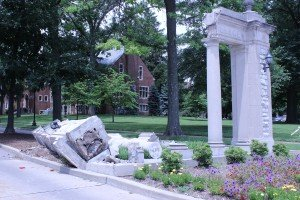 Historic Gate Suffers Serious Damage
