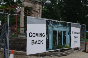 Restoration of Alumnae Gate is Underway