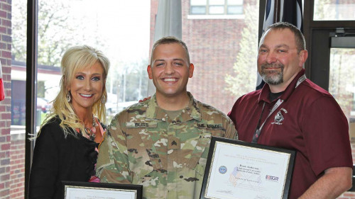 Belleville's Jones, Anderson Honored with Employer Patriot Award