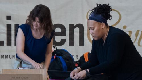 LindenGiving Stuffs Backpacks for St. Charles Students