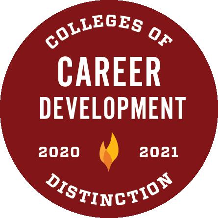 Colleges of Distinction 2020-2021 Career Development Badge
