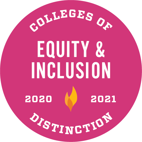 Colleges of Distinction 2020-2021 Equity and Inclusion Badge