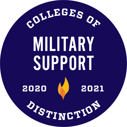 Colleges of Distinction 2020-2021 Military Support Badge