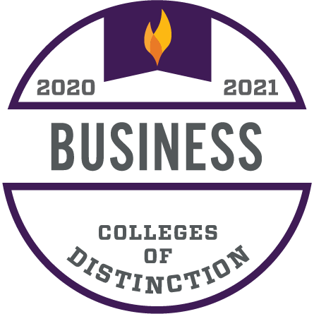 Colleges of Distinction 2020-2021 Business Badge