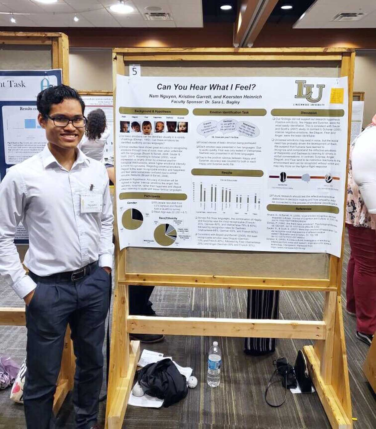 student presenting work at midbrains conference