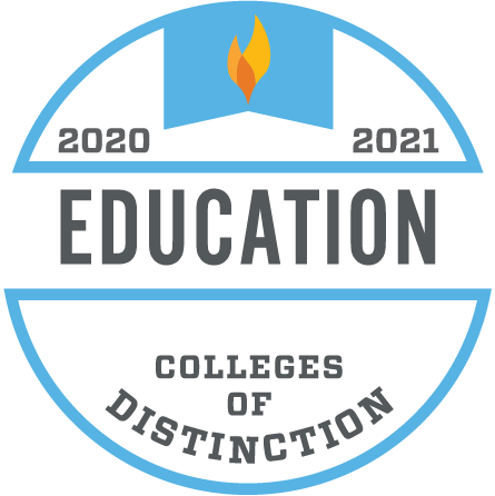 Colleges of Distinction 2020-2021 Education Badge