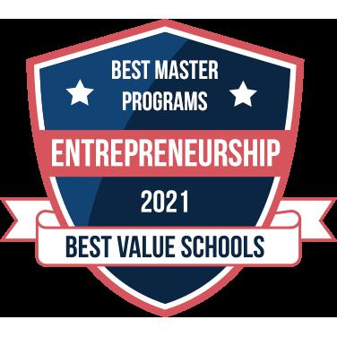 best masters in entrepreneurship programs badge