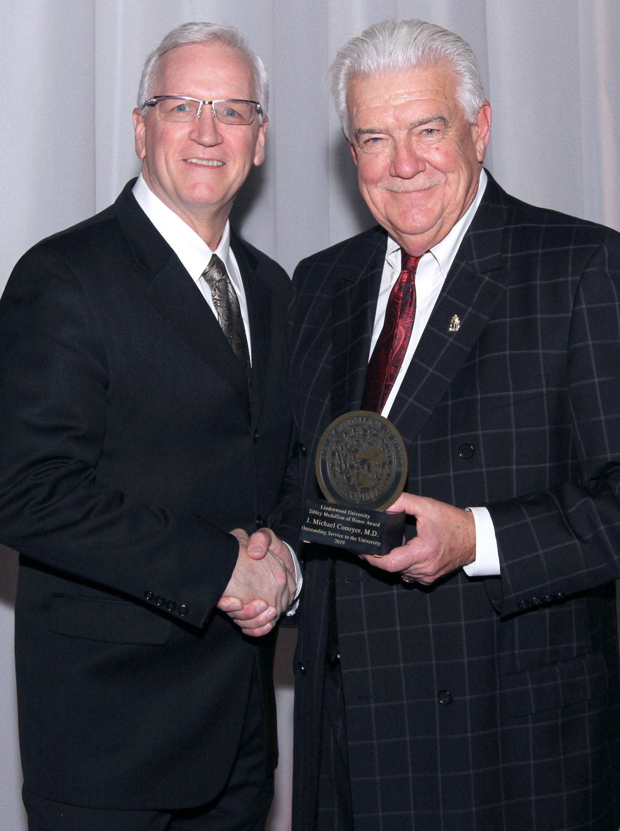 J. Michael Conoyer with President Porter
