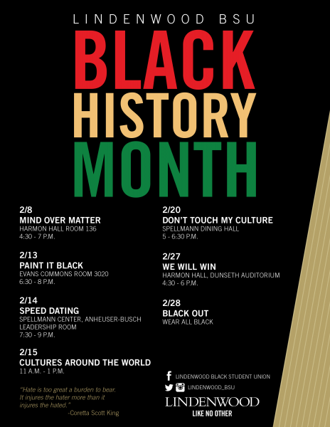 BSU - Black History Month - Events Flier