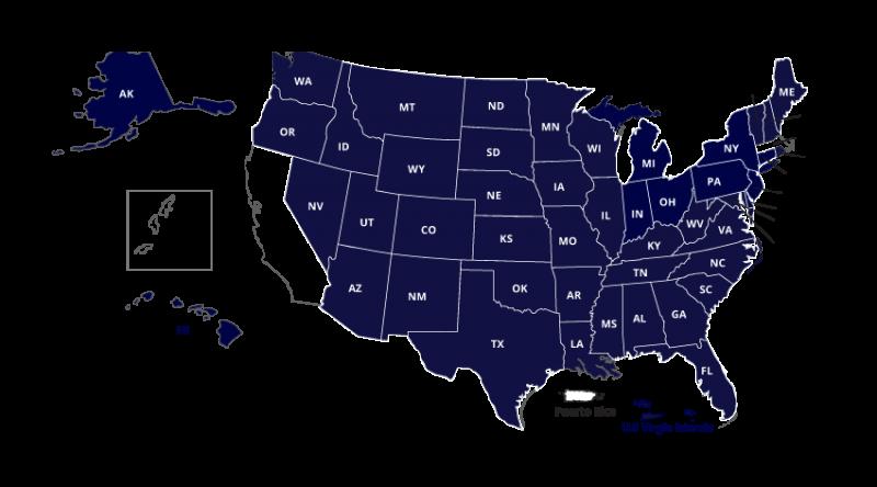 Map Showing Members of NC-SARA