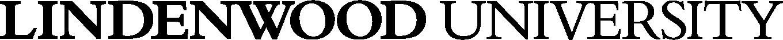 Lindenwood University - Secondary Logo - Black