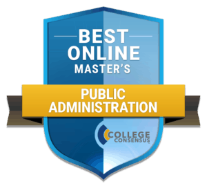 best online masters in public administration badge