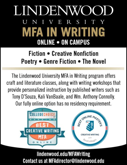 MFA in writing poster