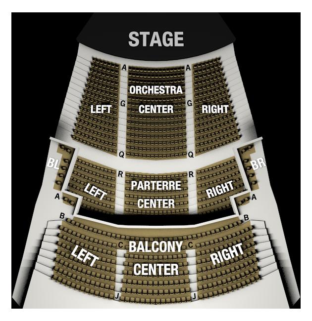 J. Scheidegger Center for the Arts Seating Chart