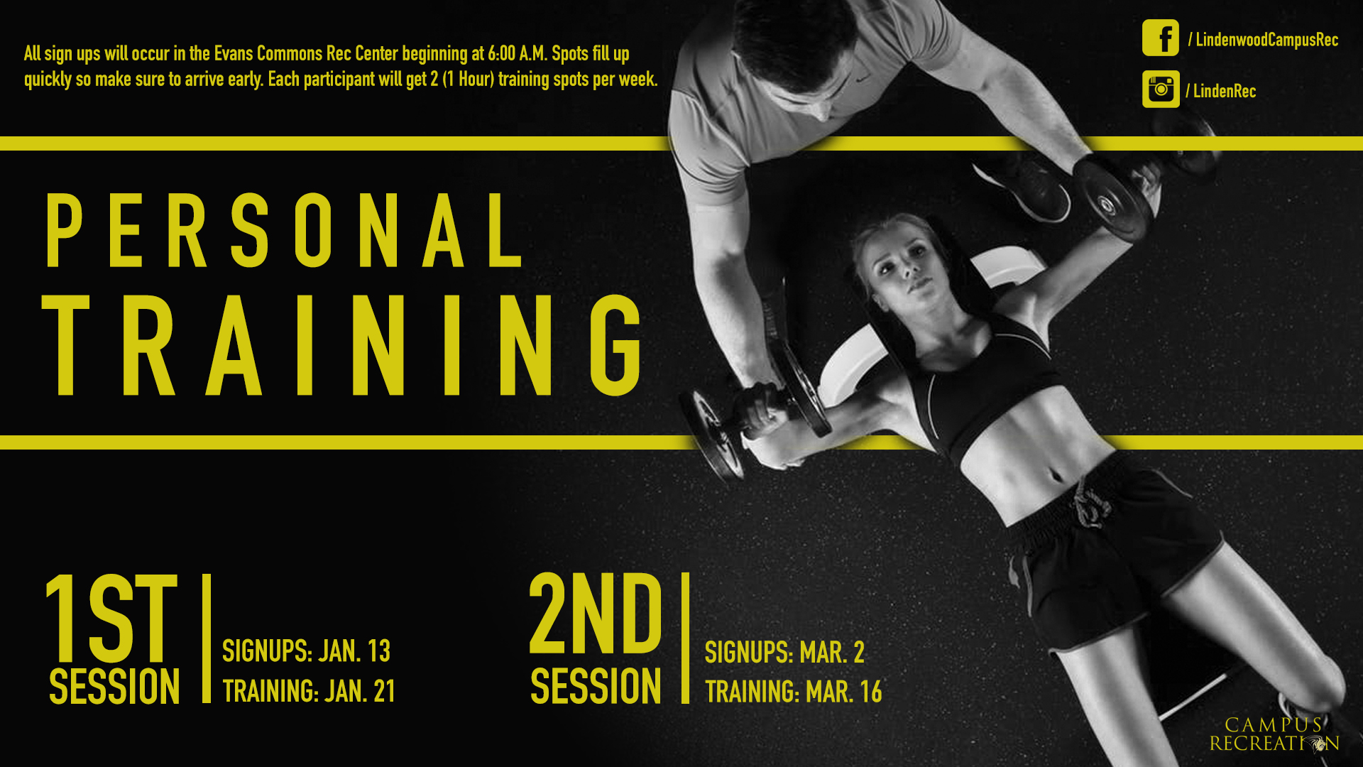 Spring 2020 Personal Training Graphic