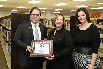 Lindenwood University-Belleville Librarian Teri Terranova was recently named Employee of the Quarter.