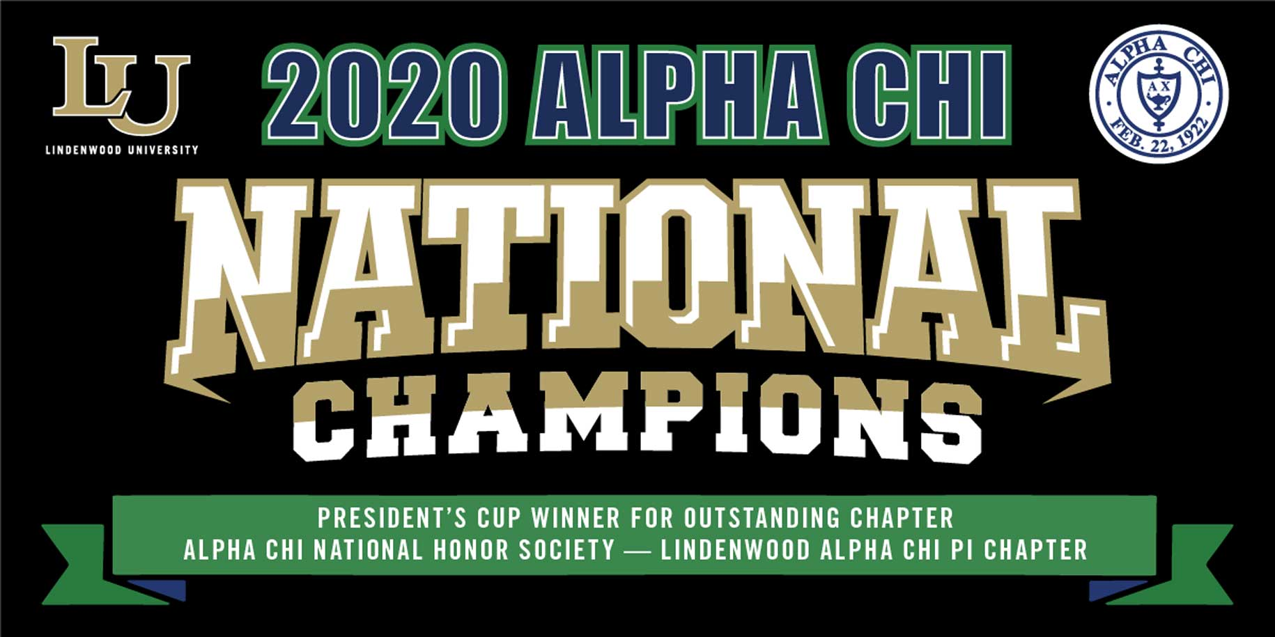 Alpha Chi National Champions Banner