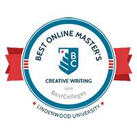 Best Online Masters in Creative Writing Badge