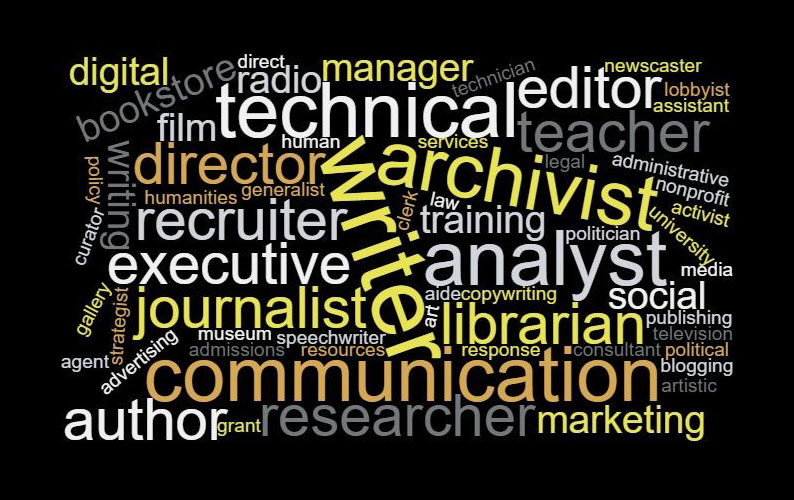 Jobs that require the skills english majors learn.