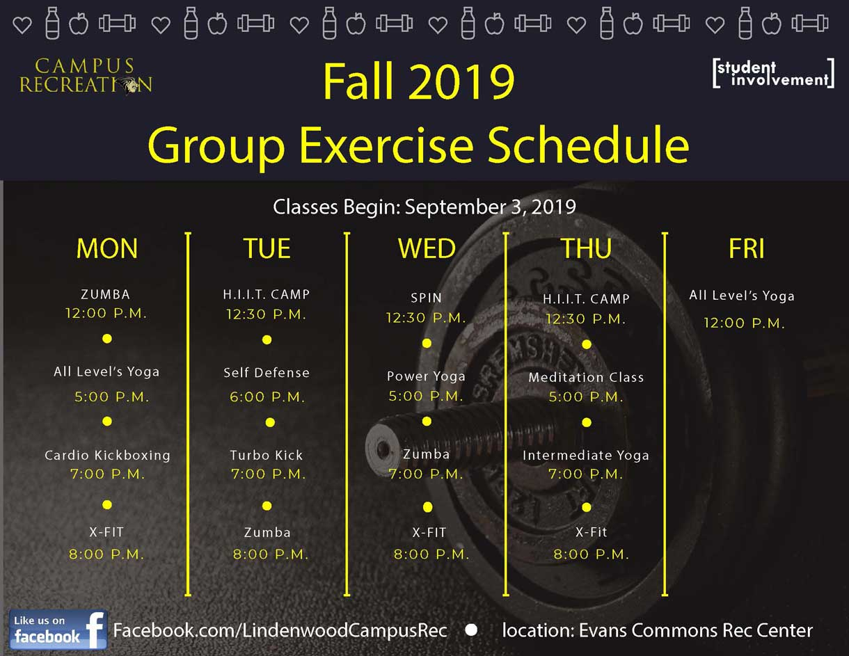 Fall 2019 - Group Exercise Schedule Graphic